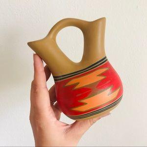 Vintage signed Native American wedding vase vessel